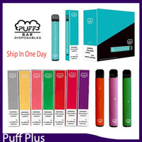 Newest Puff bar Plus Disposable Device empty Pod Starter Kit Upgraded 550mAh Battery 3.2ml Cartridge Vape 8 color VS xtra puff 0268147