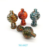 Hot Popular Colorful Glass Bubble Cap 26mmOD Glass Carb Caps...