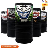 Amerikaanse voorraad Unisex Volwassenen Halloween Gezichtsmasker Sjaal Celebrity Hoofdband Magic Maskers voor Ski Motorfiets Magic Turban Bandan Outdoor Sports FY6097