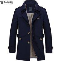 Новые Мужчины мода пальто куртки Весна Antumn Повседневная Fit Wild Шинель куртка Solid Color пальто Мужской