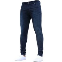 Hot Mens 2019 Super Skinny Jeans Men Non Ripped Stretch Deni...