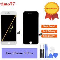 Süper Kalite Cep Telefonları Dokunmatik Paneller iPhone 8 P 8Plus LCD Ekran Ekran Meclisi Digitizer Yedek Parçalar Ücretsiz Araçları ile 100% Test