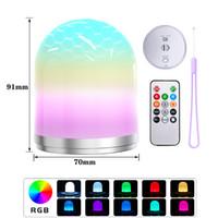 LED RGB Controle Remoto Night Light USB Atmosfera Lamp Crianças BedroomLamp decoração colorida Lanterna Camping Holiday Party