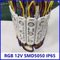 Módulos LED de inyección RGB con lente IP65 SMD 5050 Publicidad Retroiluminación DC12V 3 LEDs