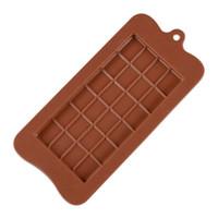 24 정사각형 그리드 초콜릿 금형 실리콘 몰드 디저트 블록 금형 바 블록 아이스 캔디 실리콘 케이크 슈가 구워 금형 SN4597