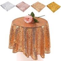 Masa örtüsü 80 cm pullu masa örtüsü yuvarlak tasarlanmış festival altın gümüş şampanya dekorasyon,