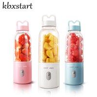 Exprimidores 500 ml Juicer eléctrico portátil Copa USB Vegetales recargables Fruta Fruta Fabricante Botella Extractor Blender Mezclador