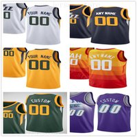 Custom Printed Jerseys Top Quality Man Purple Green White Bl...