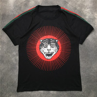 Moda Mens Camiseta 20SS Street Famoso Qualidade Tigre Head Impresso Pullover Polo Manga Curta T Camisetas Homens Mulheres Casais Estilista Tee