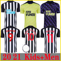 Nuovo 20 21 Newcastle casa lontano Terceira maglie calcio Shelvey 2020 2021 Joelinton Football Shirt ALMIRON RITCHIE GAYLE MAN + KIDS Kit Jerse