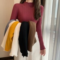 New Stand Collar Slim Fit Workwear Ribbed Top Women Basic Shirt Spring Autumn Long Sleeve Casual Office Ladies T-Shirt