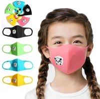 호흡 팬더 모양 호흡 밸브 방진 어린 아이들이 두꺼워 스폰지 얼굴과 증권 파티 입 마스크에서 보호 PM2.5 FY9179 마스크