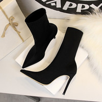 2020 zapatos de las mujeres elegantes del verano de tacón alto tobillo de los talones botas de mujer de mediana Bloquear Casual Botas botines Mujer Femenina más el tamaño de 40 U998
