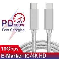حار بيع نوع-C إلى C نوع PD100W 5A PD الشحن السريع كابل USB لهواوي نيكزس مضفر كالصاعقة متوافقة 3 DHL