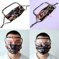 Máscaras de camuflaje de la cara del blindaje potable agujero de la manera lavable reutilizable Mascarilla Mascherine flexible Niño Mujeres Ciclismo 9 5TR C2