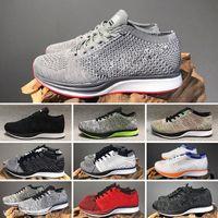 Nike Flyknit Racer Be True 2019 erkekler kadınlar Dawn BETRUE Oreo GS Sneakers Ace spor çalıştırmadan Sprite Belçika Dusk örme Ayakkabı BEACH sinek Tepki
