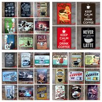 Boutique en métal Boîte à café en métal affiche vintage Artisanat Fer Peinture Décoration maison Restaurant Pub Signes décorations Art autocollant YFA2451