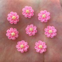 New 100PCS Resin 13 milímetros 3D Flower Flatback Pedra Enfeite DIY Scrapbook Artesanato R923 * 2