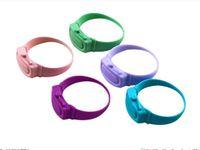 Hand Sanitizer disinfettante Sotto-imballaggio del braccialetto del silicone Wristband Distributore di Wearable Hand Sanitizer Dosatori