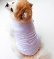 Massivfarbe Haustierweste Kleine Hundekatze Haustier Kleidung Kleid Weste T-shirt Bekleidung Kleidung Hemden Weste KKA8013