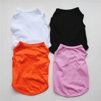 solide couleur Pet Vest Petit Chien Chat Vêtements pour animaux Robe Gilet T-shirt Vêtements Vêtements Chemises Gilet KKA8013