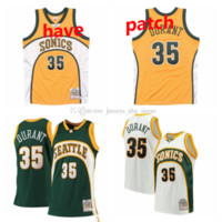 HomensSeattle.SuperSonics Kevin Durant Mitchell Ness White Home 2007/08 Hardwoods Classics Authentic Jersey 01