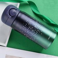 Bester Verkauf kreative Starry Sky Cup Edelstahl 304 Bouncing Abdeckung starke untere Tasse Student, ein Paar Verwendung Tragbares Flasche DH0087