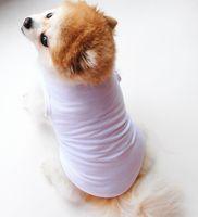 Couleur unie Color Pet Gilet Petit chien Cat Chat Pet Vêtements Vest T-shirt Vêtements Vêtements Chemises Vest KKA8013