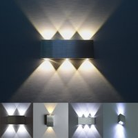 Applique murale moderne Led 2W 4W 6W 8W AC85-265V de haute qualité en aluminium chambre Décore lampe murale intérieure lumière de décoration de fond