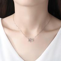 Designer-Schmuck Halskette Herz 925 Sterling Silber Claviclekette Allgleiches Art und Weise geeignet für Geselliges Beisammensein Party Trendy Sternanhänger