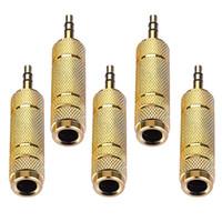 3,5 mm auf 6,35 mm Audio-Adapter-Stecker auf Buchse AUX-Verstärker Stereo-Konverter für Handy-PC Notebook-Lautsprecher