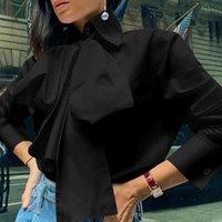 Top Mode Femmes Bureau Chemisier celmia Elegant Chemise à manches longues Lapel Casual Bow Tie Shirt Tops surdimensionné Parti 5XL Blusas 7