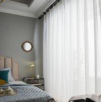Top qualité de luxe en mousseline de soie voilages solide blanc pour Salon Chambre Décoration Fenêtre Rideau Tulle Voiles