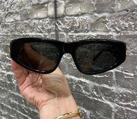 Frauen-Sonnenbrille 0095 Butterfly-Rahmen randloser Glas-UV400 Schutz Top-Qualität edle Art Brillen mit Fall