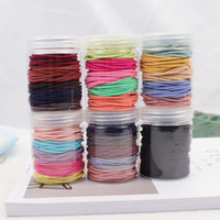 100pcs Bottle 4CM Elastic Rubber Bands 2MM Thick Colourful T...