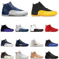 Chaussures de basketball Mens 12s Indigo 12 Université Or Gray Dark Green Game Game Taxi Gamma Blue Blue Jumpan Hommes Baskets en plein air