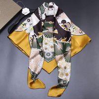 Precioso Ventilador de seda verdadero de fibroína crepé satinado 110 Big Square función de la bufanda de la bufanda mujeres chal bufanda de seda de seda Shiduo