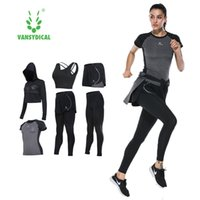 Vansydical Suits Women Sportswear Female Sports Trousers Fit...