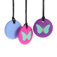 펜던트 목걸이 아기 젖니 간호 한 입에 씹어 부드러운 실리콘 Teether 장난감 엄마의 간호 목걸이 어린이 Chewelry 자폐증 특별 필요