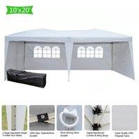 Pieghevole 10x20ft impermeabile Gazebo Canopy Shelter Facile Pop up 3x6m Pratica tenda Wedding Party con 4 pareti e finestre degli Stati Uniti due Stock