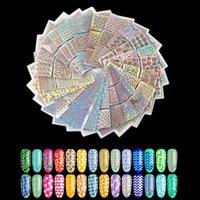 Nail Art Kits 6/12/18 folha irregular oca out adesivo DIY Dica transferência adesivos acessórios franceses dicas estampagem ferramentas manicure