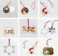 التسامي عيد الميلاد الحلي يمول فارغة جولة مربع الثلج شكل زينة MDF نقل الساخنة الطباعة فارغة كوستر متعددة أنماط