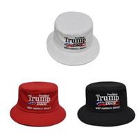 Летний Trump Рыбак Hat Bucket Hat Шляпы Мужчины Женщины Hip Hop Cap Американский президент Выборы Вышивание Туризм Caps Sun Hat EEA1954