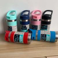 12 أوقية الفولاذ المقاوم للصدأ زجاجة مياه الأطفال غلاية معزول مباشرة مع بيع كأس القش