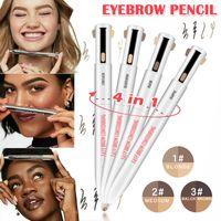 4 en 1 Facile à porter Sourcils Contour Pen étanche Définition Mise en évidence Sourcil Crayon à sourcils Maquillage cosmétique