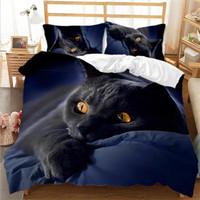 Sıcak Satış 3D Baskılı Yatak Takımları Kedi 3 Adet Yatak Takım Nevresim Yastık Kılıfı Ev Yatak Malzemeleri
