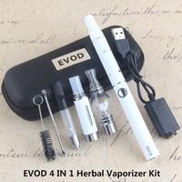 4 в 1 в 1 сухой травяной испаритель Evod Mini Vape Kit Сухой травяной VAPORIZOR WAX Vape Pen 650MAH 900MAH 1100 мАч USB 510 резьба батареи MT3 CE3 распылитель