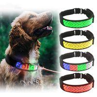 Новые Bluetooth программируемые светодиодные Pet Collar USB аккумуляторная Night безопасности Предупреждение Illuminated Собака Регулируемая собака Воротник Cut, чтобы изменить размер
