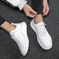 Men Casual Shoes High Quality Fashion Sneakers Lace-up Vulcanize Flats Shoes Low-cut Skateboarding Classics Style White Color *