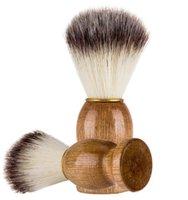 erkekler için ağaç Saplı 11 CM Badger Saç Erkek Tıraş Fırçası Barber Salon Erkekler Yüz Sakal Temizleme Cihazı Traş Aracı Jilet Fırça